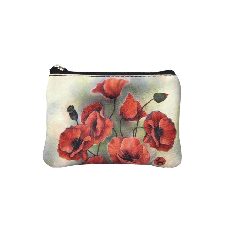 Purse with Two Zips 'Amapolas'